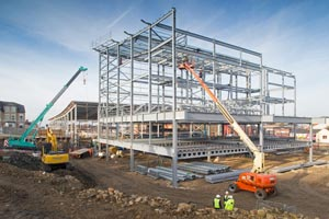 The cinema and car park structure takes shape