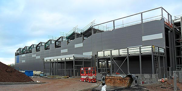 Composites centre takes shape with steel