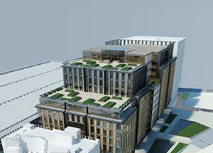 Visualisation of the completed building
