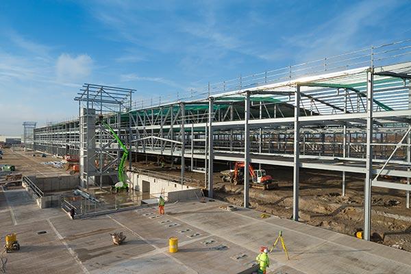 Steel delivers parcel hub