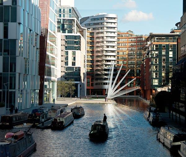 Fan Bridge creates basin landmark
