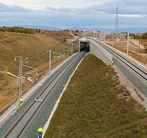 Flyover for high speed line near the France - Spain border