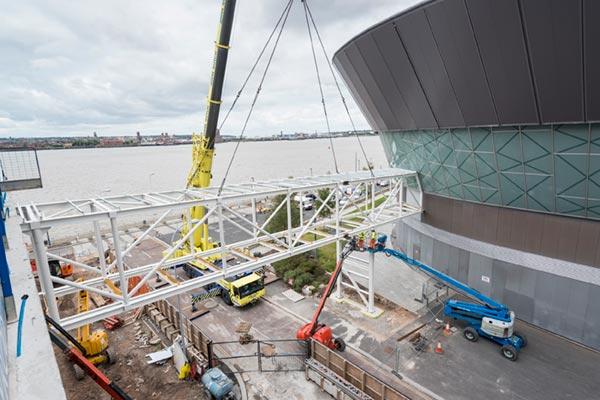 Footbridge links two Liverpool venues