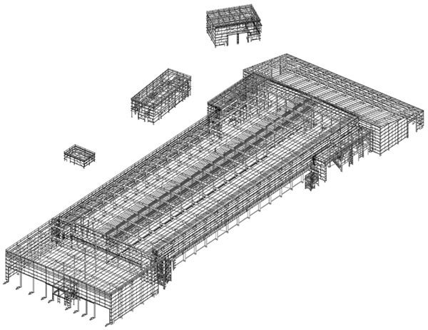 Border Steelwork Structures in conjunction with URS designed the steel frame model for the MBT and its associated structures