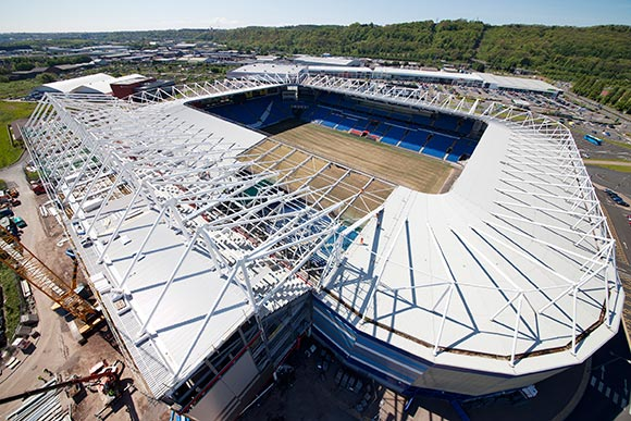 The new tier was built during the season with no disruption to the spectators using the lower part of the stand