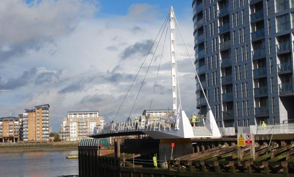 Deptford bridge swings into action