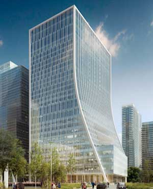 Three steel towers set to rise at Canary Wharf