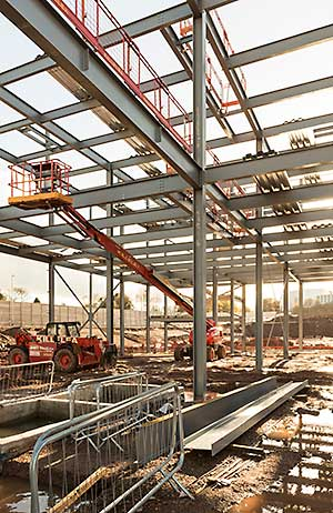 The main reason for choosing steel was speed of construction