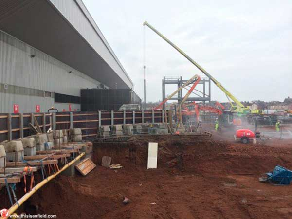 Anfield expansion work begins
