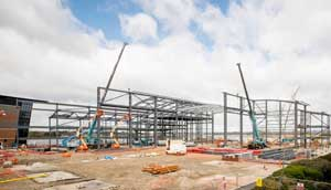 Steelwork's speed of construction was important to this project