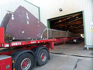 Steelwork leaves S H Structures' facility