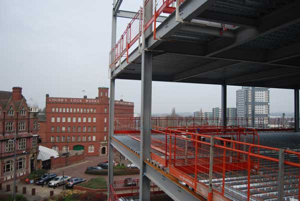Steel complete for city's first Grade A offices