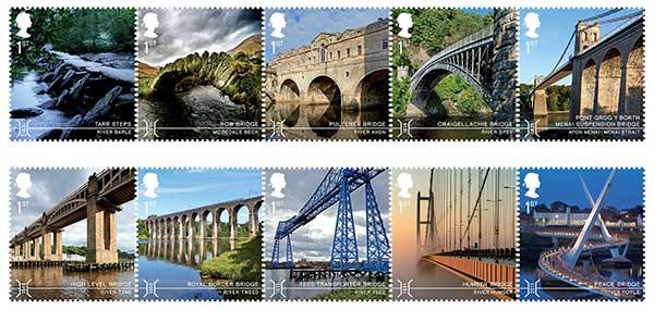 Steel bridges adorn Royal Mail stamps