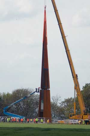 Bomber Command memorial spire erected