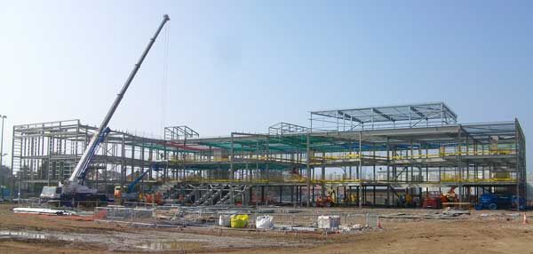 A steel frame has proven to be beneficial to the overall programme