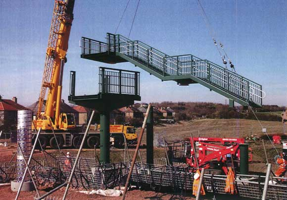 Speed of construction meant steel was the ideal material for the project's bridges