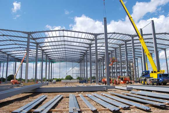 The huge distribution centre takes shape
