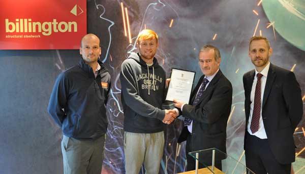 BCSA awards first fabricator welder certificate