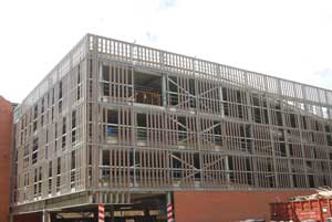 The five-level multi-storey car park