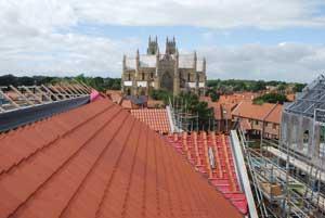 The Minster overlooks the Flemingate development