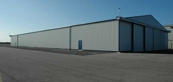 The completed hangar