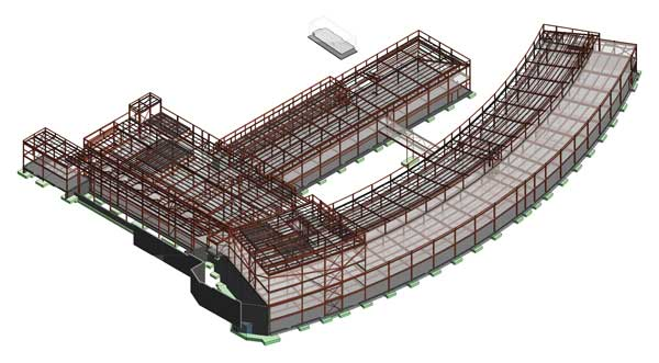 Steel design model of the Sunderland Campus