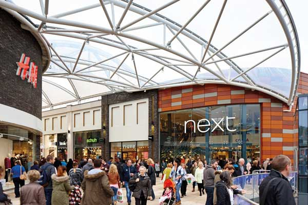 Newport's steel-framed Friars Walk shopping complex opens