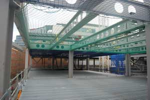 Long span cellular beams have been used throughout