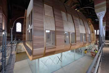 The clad pod nears completion