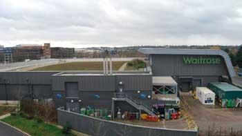 Billington Structures erected the Phase one Waitrose store