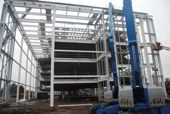 The choice of steelwork has helped with a quick and cost effective construction programme