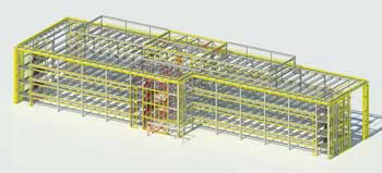 Steel cores are incorporated into the frame as they assist in the building's blast resistance