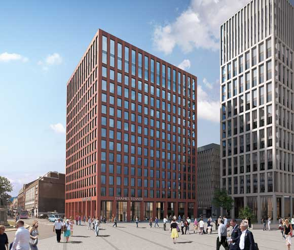 How the completed Thames Tower will look