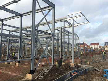 A steel solution was chosen for cost-effectiveness and ease of construction