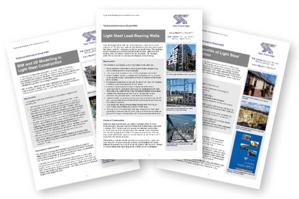 Light Steel Information Sheets available from SCI
