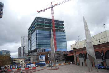 The cladding goes up on 101