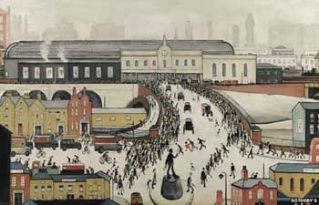 L S Lowry's painting of the station in its heyday
