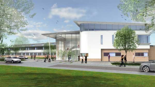 Complex roof tops school