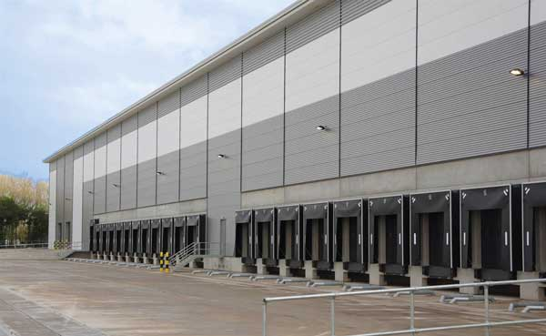 Frame up for Manchester Airport Amazon warehouse