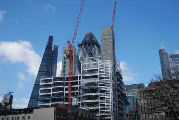 London office construction at eight-year high
