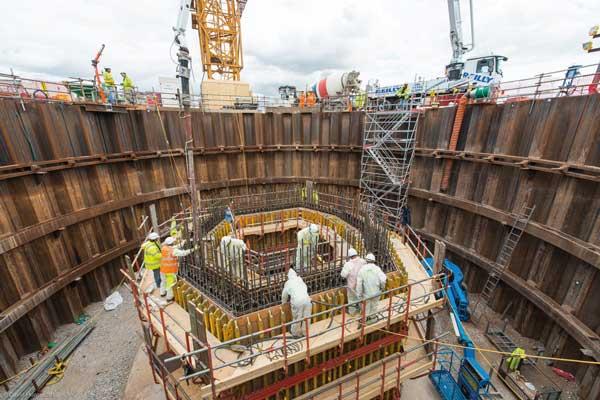 Curved beams raise Mersey bridge pylons