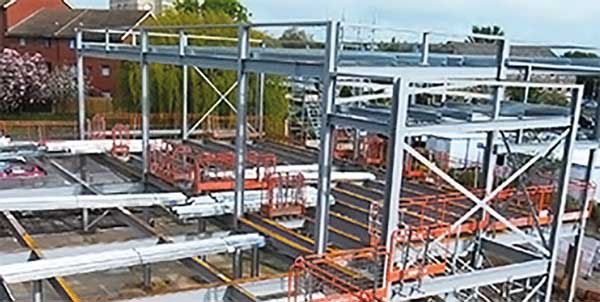 General hospital expansion aided by steel fabrication software