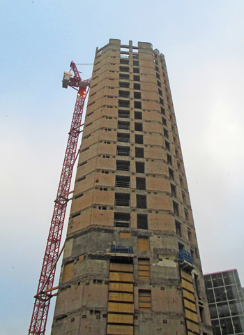 The original core was retained during the demolition process