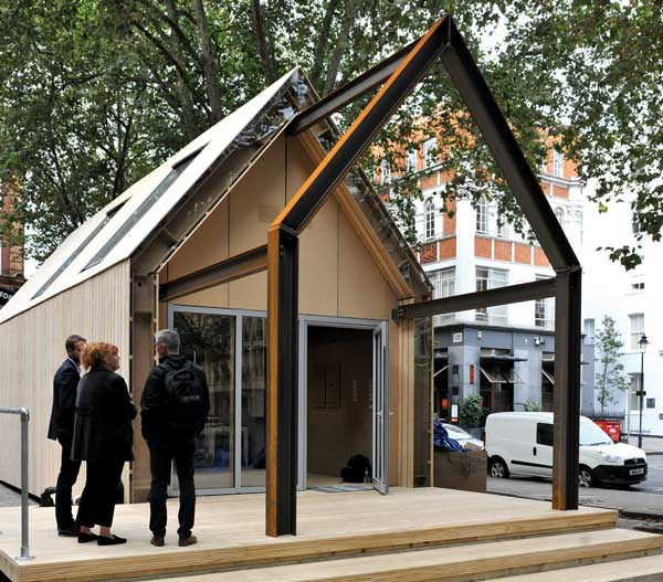 Steel prototype building demonstrates sustainable approach