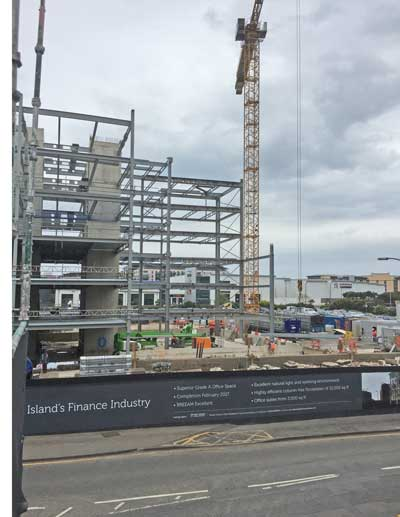 Channel island finance centre goes up