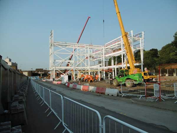 Steel frame starts at major Stockport scheme