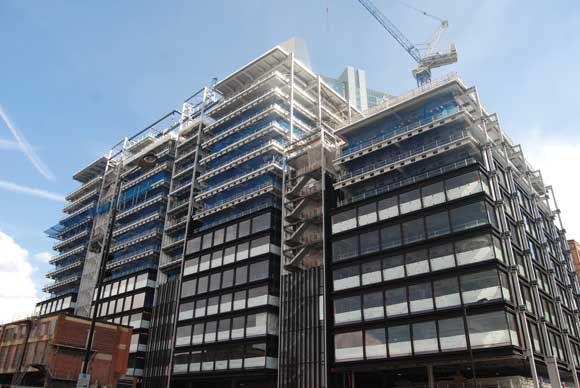 Principal Place in central London, like most commercial developments, requires large column-free floorplates