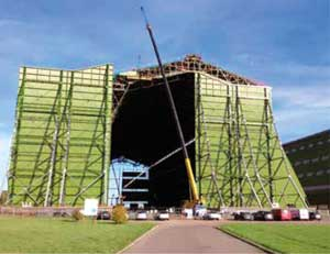 Coatings restore historic airship hangar