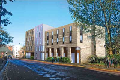 Visualisation of one of the completed blocks
