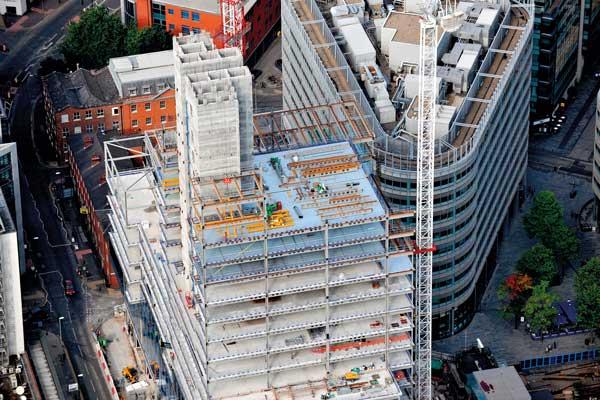 Steel creates office landmark
